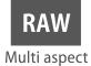 RAW in verschillende hoogte-breedteverhoudingen